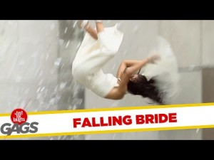 Bride Takes a Mean Fall on Wedding Day